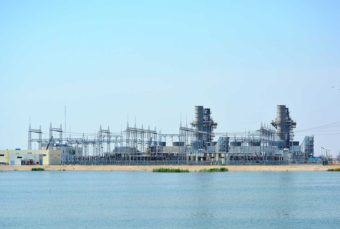 Portrait of Gas-Fired Combined Cycle Power Plant