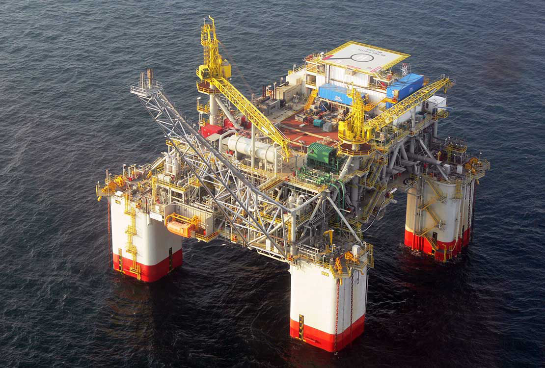 Portrait of Offshore Oil and Gas Production Facility